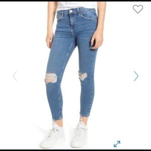 Topshop Jaime High Waisted Ripped Skinny Jeans